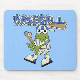 Frog Baseball Up at Bat Tshirts and Gifts Mouse Pad