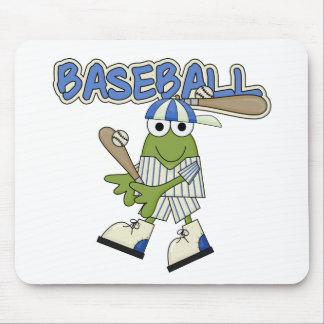 Frog Baseball Up at Bat Tshirts and Gifts Mousepads