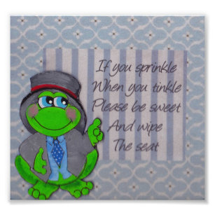 Bathroom Rules Art Wall Decor Zazzle