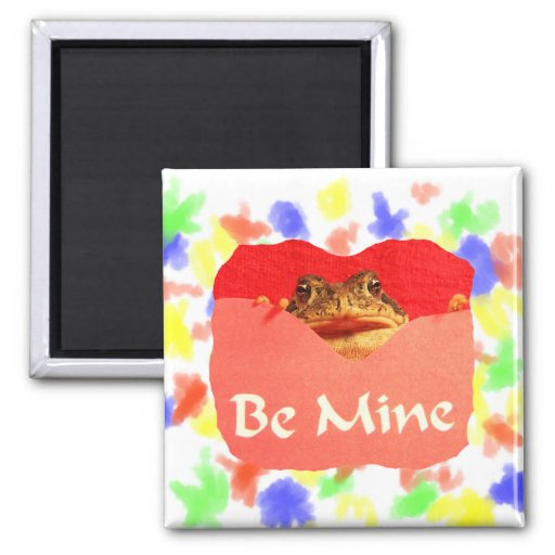 Frog be mine cutout valentine magnet