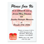 Frog be mine cutout valentine personalized invites