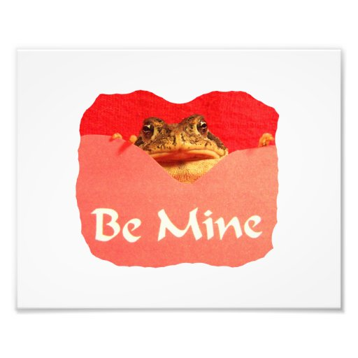 Frog be mine cutout valentine photograph