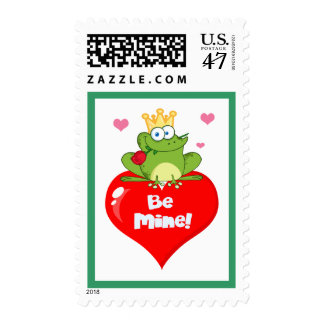 Frog Be Mine Prince Valentine's Day Postage Stamp