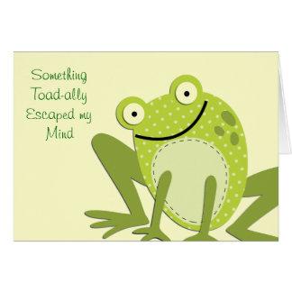 Frog Belated Birthday Greetings Greeting Card