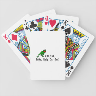 Frog Bicycle Playing Cards