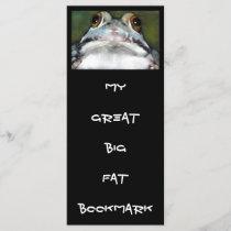 FROG: BIG FAT BOOKMARK: RACK CARD