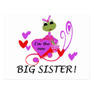 Frog Big Sister Tshirts and Gifts Postcard