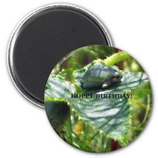 Frog Birthday 2 Inch Round Magnet