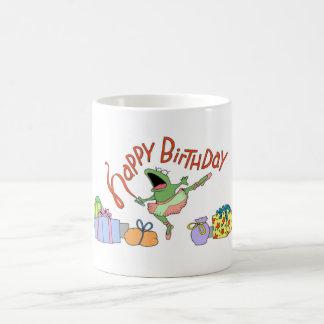 Frog birthday coffee mug