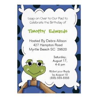 Frog Birthday Invitation
