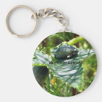 Frog Birthday Keychain