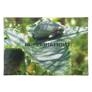 Frog Birthday Placemat