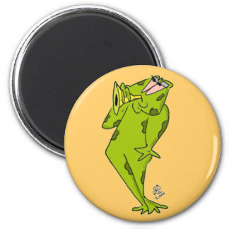 Frog blowing Bugle Magnets