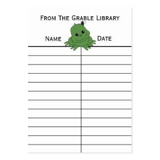 Frog Book Return Cards Business Cards