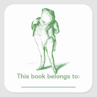 Frog  Bookplate