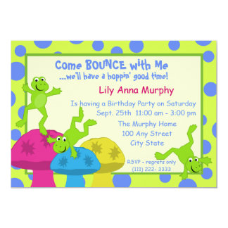 Frog Bounce Birthday Card