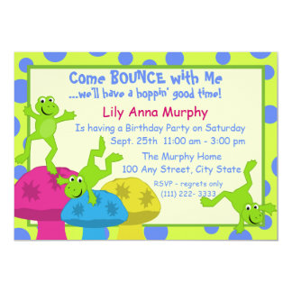 Frog Bounce Birthday Card