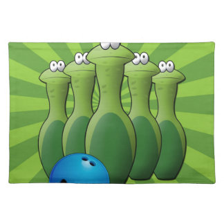 Frog Bowling Pins Cloth Placemat