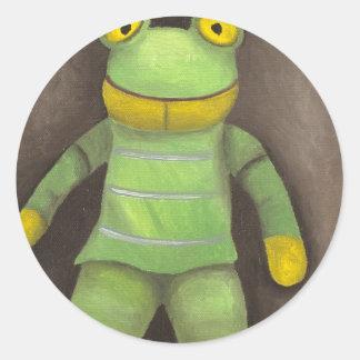 Frog Boy Classic Round Sticker