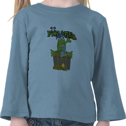 Frog Boy Pirate With Gold Tshirts and Gifts