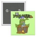 Frog Boy Pirate With Gold Tshirts and Gifts Buttons