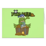 Frog Boy Pirate With Gold Tshirts and Gifts Greeting Card