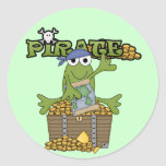 Frog Boy Pirate With Gold Tshirts and Gifts Round Sticker