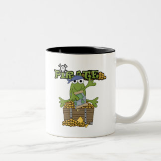Frog Boy Pirate With Gold Tshirts and Gifts Two-Tone Coffee Mug