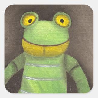 Frog Boy Square Sticker