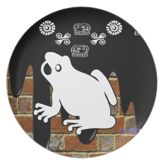 FROG BRICK BACKGROUND PRODUCTS PARTY PLATES