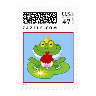 Frog bride stamp