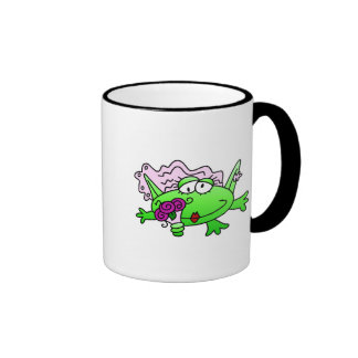 Frog Bride T-shirts and Gifts Ringer Coffee Mug