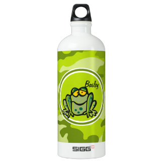Frog; bright green camo, camouflage SIGG traveler 1.0L water bottle