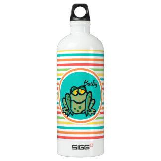 Frog; Bright Rainbow Stripes SIGG Traveler 1.0L Water Bottle