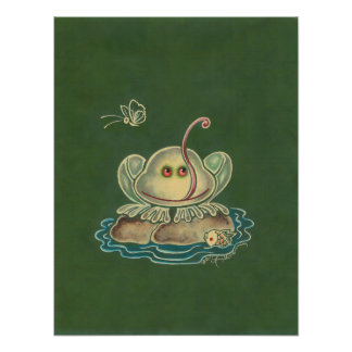 Frog Butterfly Funny Print
