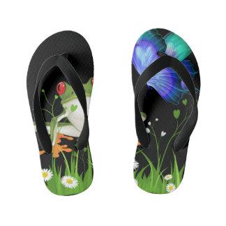 Frog & Butterfly Kid's Flip Flops