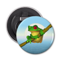 Frog Button Bottle Opener