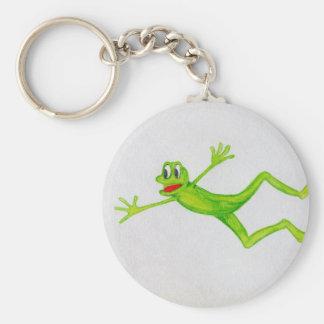 Frog by Christina Quinlivan Basic Round Button Keychain