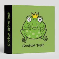 Frog Cartoon 3 Ring Binder