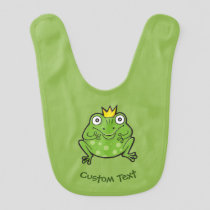 Frog Cartoon Baby Bib