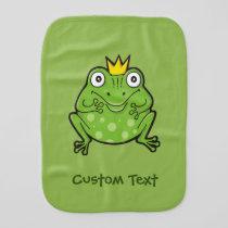 Frog Cartoon Baby Burp Cloth