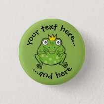 Frog Cartoon Button