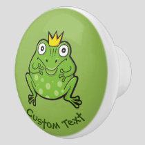 Frog Cartoon Ceramic Knob