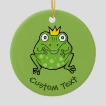 Frog Cartoon Ceramic Ornament