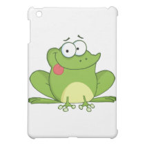 Frog Cartoon Character Hanging Its Tongue Out Cover For The iPad Mini