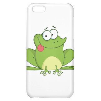 Frog Cartoon Character Hanging Its Tongue Out Cover For iPhone 5C