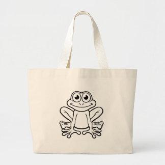 Frog Cartoon Character Large Tote Bag