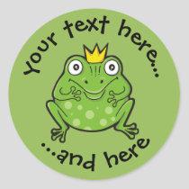 Frog Cartoon Classic Round Sticker