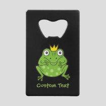 Frog Cartoon Credit Card Bottle Opener