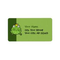 Frog Cartoon Label